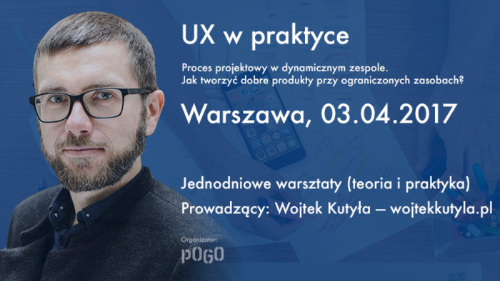 Reklama warsztatów w Warszawie, kwiecień 2017