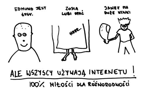 Trójka zupełnie różnych użytkowników internetu