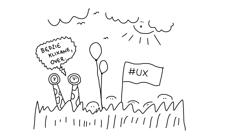 UX designer siedzący w zaroślach