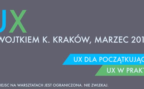 Reklama warsztatów UX w praktyce i UX dla początkujących