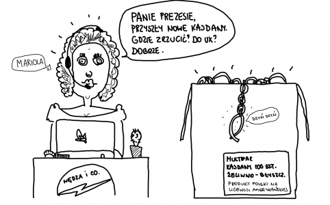 Pani Mariola odbiera zamówione kajdany