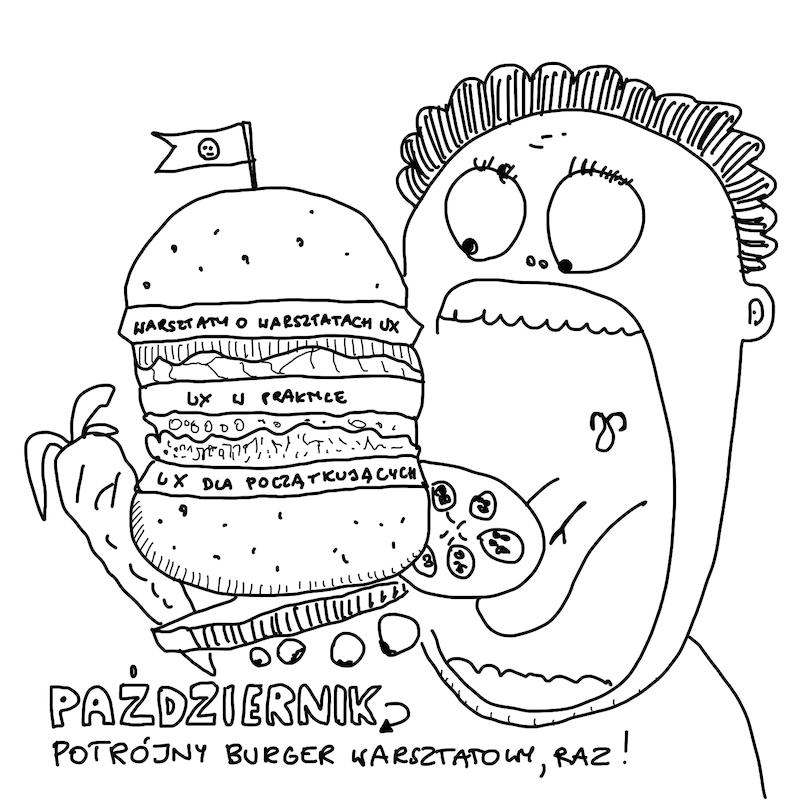 Pożeracz potrójnego hamburgera warsztatowego