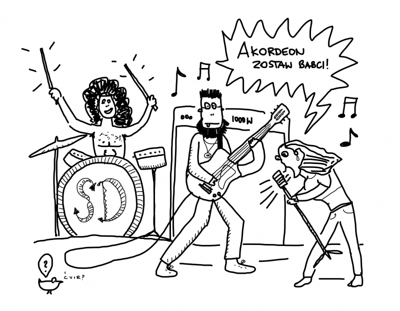 Grupa muzyczna: gary, gitara, wokale!